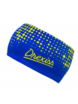 IceDress Drexiss funkční čelenka DOTS - BLUE YELLOW